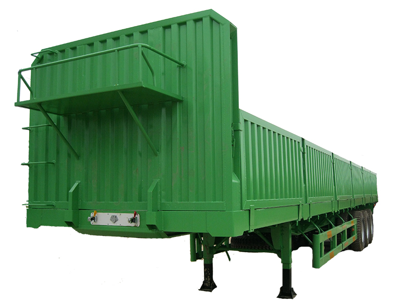 FLAT BED SEMI-TRAILER WITH WALL
